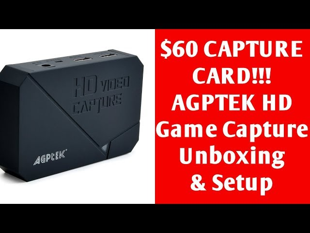 AGPtEK HD Game Capture Unboxing/Review ($60 Game Capture Card! Amazing Cheap Budget Game Capture)