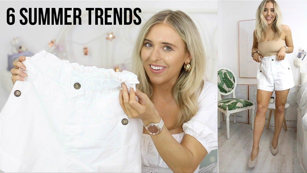 6 Summer FASHION TRENDS for 2020 // Summer Style - Zara, H&M, Topshop Try On Haul | Em Sheldon