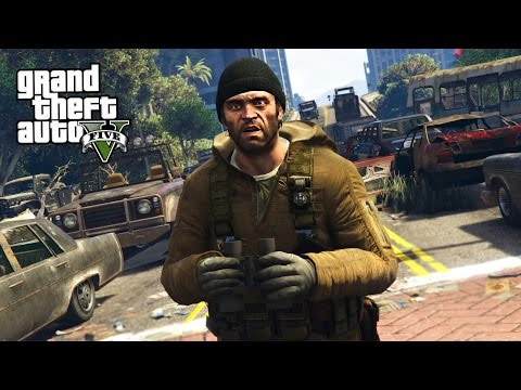 GTA 5 Zombie Apocalypse Mod #1 - BEGINNING OF THE END!! (GTA