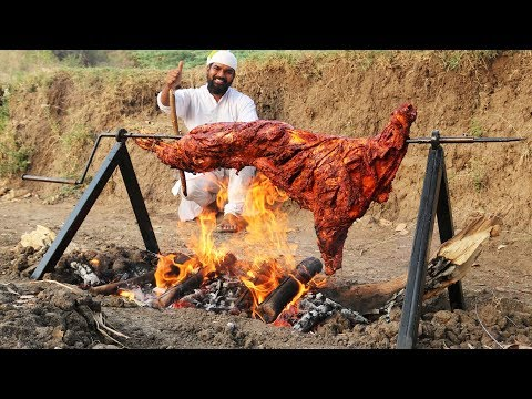 Whole Lamb Roast Recipe ||  Grilled Full Goat Recipe || Nawabs kitchen