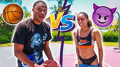 1V1 S.T.R.I.P. BASKETBALL VS MY GIRLFRIEND (REMATCH)