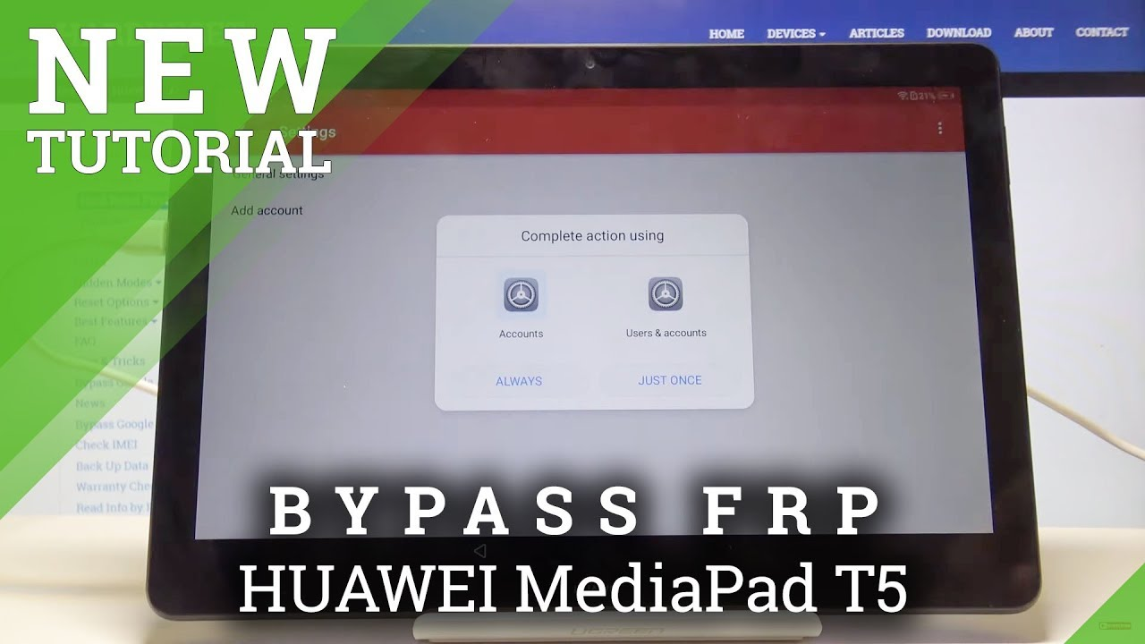 How To Bypass Google Verification In Huawei Mediapad T5 Remove Frp Protection Youtube