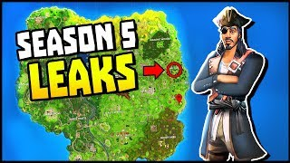 EPIC SEASON 5 LEAKS! New Skins, New Areas, New Themes (Fortnite Battle Royale Season 5)