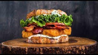 BEST BLT EVER! Fried Feta BLT Sandwiches