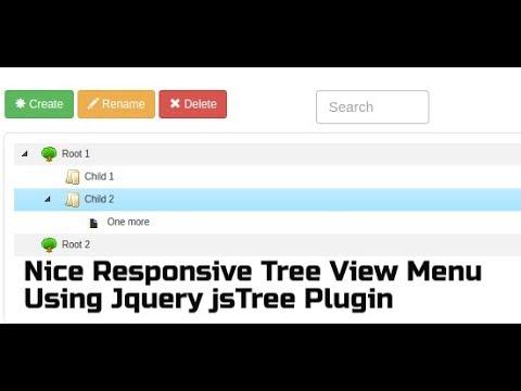 Create Nice Responsive Tree View Menu Using Jquery jsTree Plugin