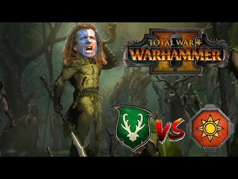 MEGA OP POWERCREEP DLC   Wood Elves vs Lizardmen - Total War Warhammer 2  