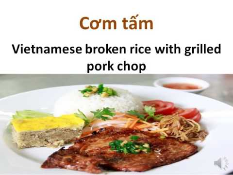 How to pronounce Cơm tấm (Vietnamese broken rice with grilled pork chop
