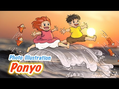 Vẽ nhân vật Ponyo Sosuke   Photo Illustration   Ponyo - Give me a ticket to childhood   Doodle Art