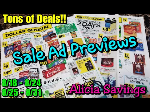Dollar General Sale Ad Previews 8/18 - 8/24 & 8/25 - 8/31 | AWESOME Couponing Deals !