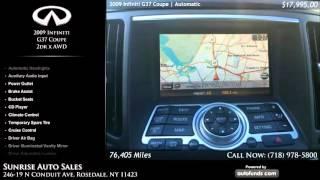 Used 2009 Infiniti G37 Coupe | Sunrise Auto Sales, Rosedale, NY