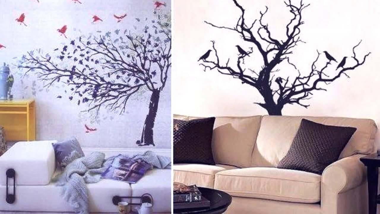 Stunning Tree Wall Decals Interior Design Inspirations   Awesome Slideshow  HD   YouTube