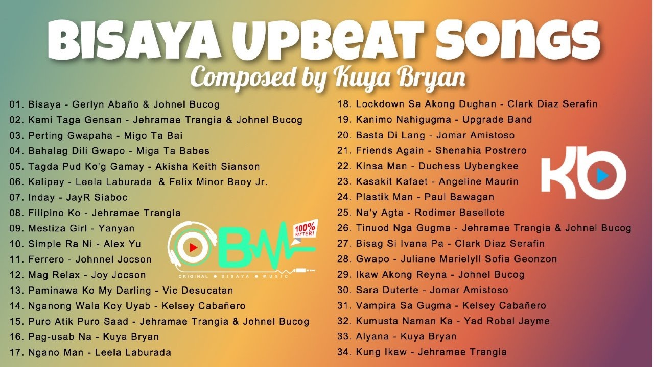 DOWNLOAD: BISAYA UPBEAT SONGS composed by Kuya Bryan (OBM) Mp4 song