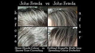 Final Review of John Frieda Brilliant Brunette Multi-Tone Revealing Color on Gray Hair