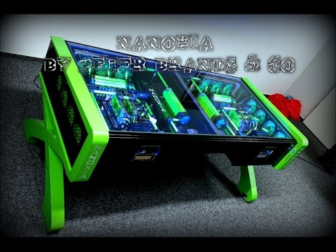 ultimate custom watercooled gaming desk pc mod crazy gaming pc in a desk pc inside