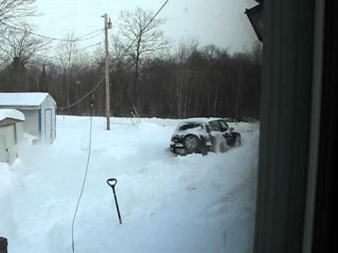forrester vs rav4 all wheel drive plow through snow bank pt 2 how to save money and do it. Black Bedroom Furniture Sets. Home Design Ideas