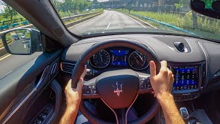 2020 Maserati Levante GranSport - POV Test Drive by Tedward (Binaural Audio)