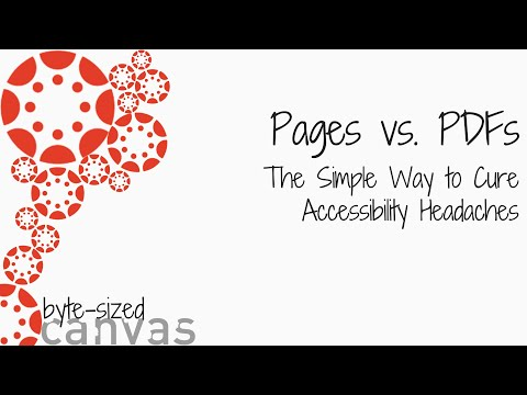 Byte Sized Canvas: Pages Vs PDFs
