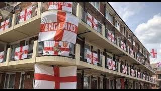 World Cup Extraordinaire: England Flags Cover Entire London Block