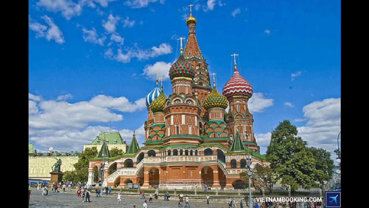 Giá vé máy bay từ Việt Nam đi Nga rẻ