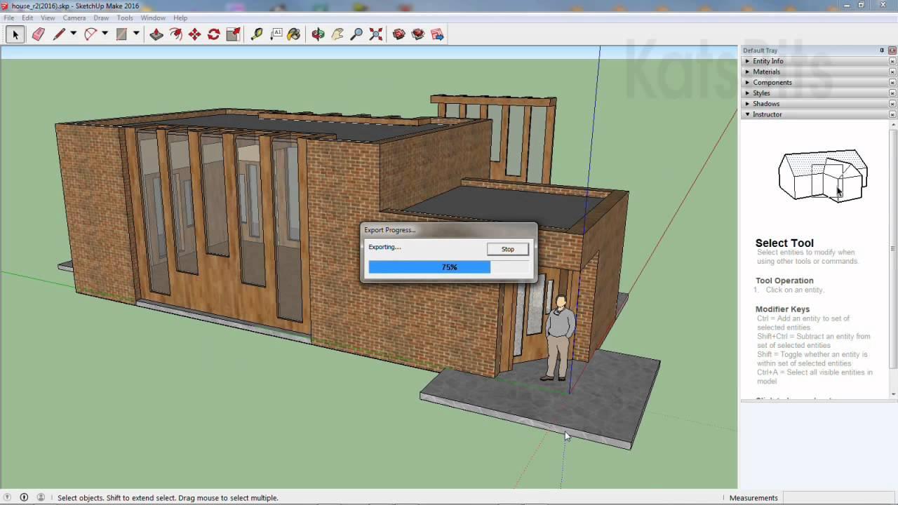 Import sketchup files into Blender