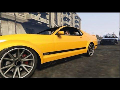 GTA 5: Mustang vs Police