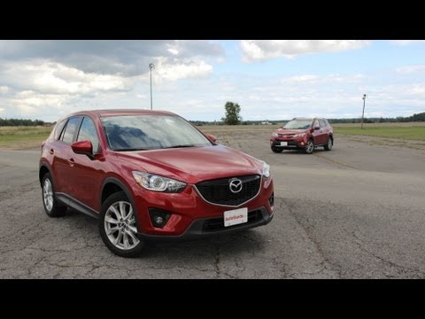 2013 toyota rav4 vs 2014 mazda cx 5 track comparison youtube. Black Bedroom Furniture Sets. Home Design Ideas