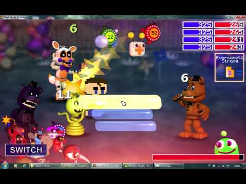 Repeat ALL CHARACTERS UNLOCKED!! | FNAF World Simulator by