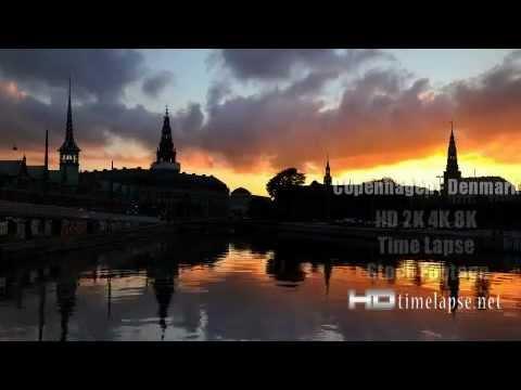 Copenhagen, Denmark - UHD Ultra HD 2K 4K Video Time Lapse Stock Footage Royalty-Free