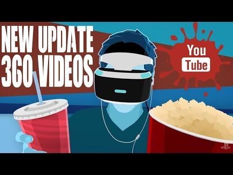 NEW UPDATE! PSVR Youtube App Watch 360 Videos