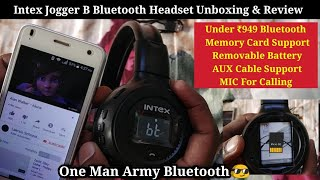 Intex Jogger B Bluetooth Headphone Unboxing & Review