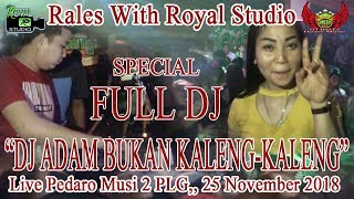 """""""DJ ADAM, BUKAN KALENG KALENG"""" RALES Live S.Pedado Musi 2 PLG (25/11/18) By Royal Studio"""