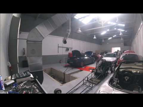 MG TF turbo VF35 dyno run Rover k series 1.8 310hp