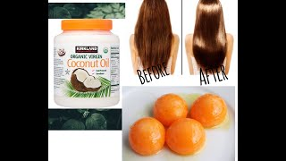 Божественная маска для волос Как отрастить волосы за 2 недели Маска из яиц кокосового масла меда