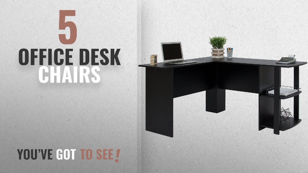Top 10 Office Desk Chairs [2018]: Best Choice Products L Shaped Corner  Computer Office Desk