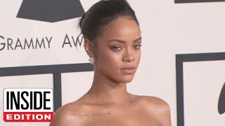 Rihanna Claps Back at Snapchat for Domestic Violence Ad Featuring Chris Brown by : Inside Edition