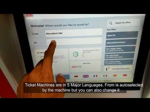 How To Use Train Ticket Machine In Germany