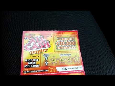 All cash tripler x 2, Irish National Lottery - #167