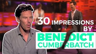 Benedict Cumberbatch's 30 Best Impressions. Prepare to be AMAZED!