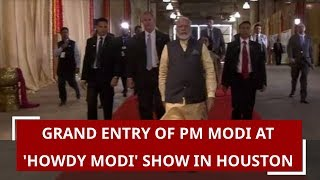 Grand entry of PM Modi at 'Howdy Modi' show in Houston