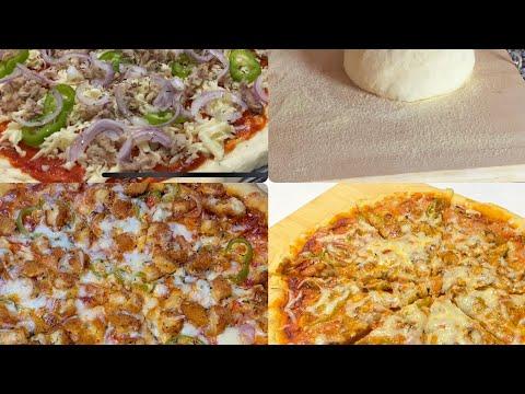 صورة  طريقة عمل البيتزا طريقة عمل بيتزا🍕الايطالية بكل سهولة ناجحة 100% وحشوة لذيذة😋 طريقة عمل البيتزا من يوتيوب