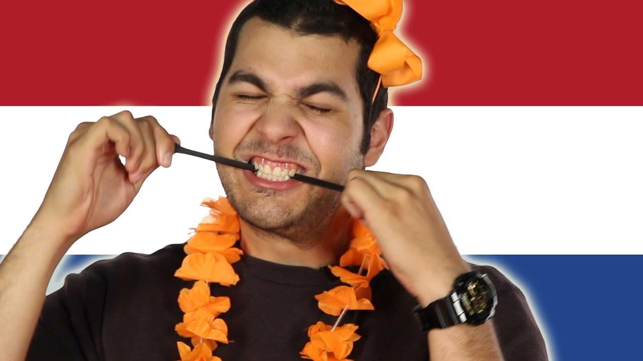 Los estadounidenses probar dulces holandés