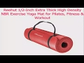 default - REEHUT 1/2-Inch Extra Thick High Density NBR Exercise Yoga Mat for Pilates, Fitness & Workout w/Carrying Strap