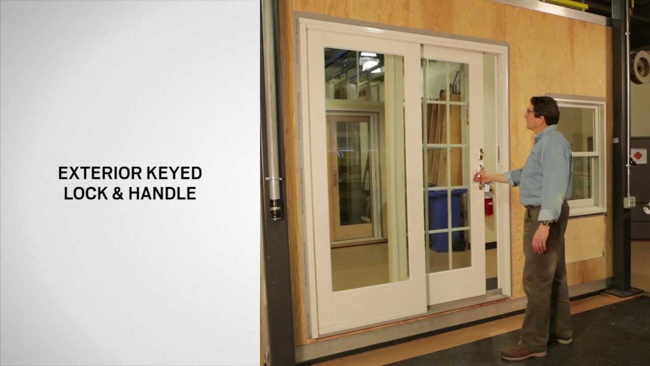 identifying the parts of a gliding door andersen windows