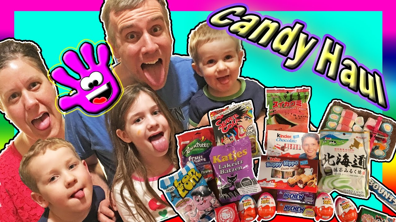 Family Tries Weird Foreign Candy Candy Taste Test Challenge Gross Candy Challenge