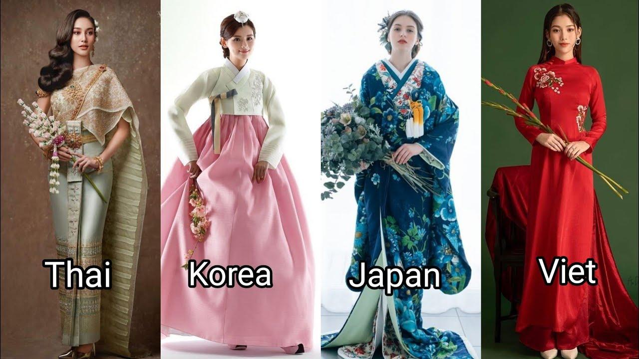 Asian traditional costume : Thailand, Vietnam, Korea, Japan