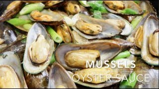 MUSSELS IN OYSTER SAUCE   EASY 10 MINUTES RECIPE