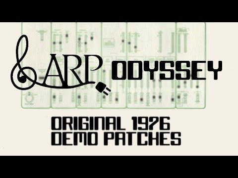 ARP ODYSSEY Original 1976 Demo Patches!