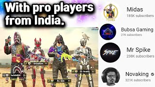 🔘 Indian Pro | @Mr Spike  @Novaking  @Bubsa Gaming | PUBG MOBILE
