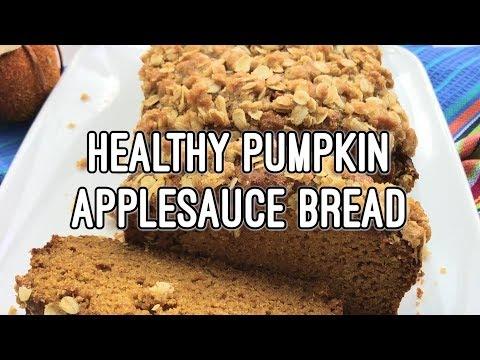 Healthy Pumpkin Applesauce Bread