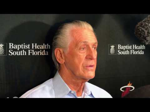 Pat Riley Miami Heat press conference after the 2017 NBA Trade Deadline